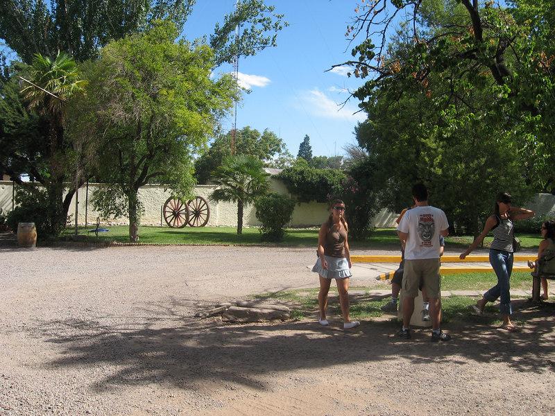 Courtyard of La Garde winery, Mendoza.