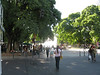 Strolling along the streets and plazas in downtown Mendoza.
