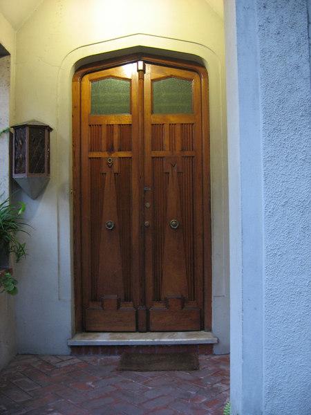 Another beautiful wooden pair of doors.