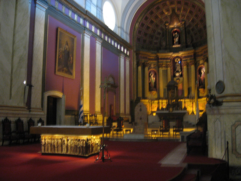 Interior of one of the churches in downtown Montevideo.