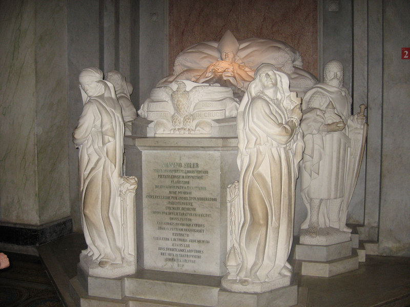 Tomb of a bishop in the same church.
