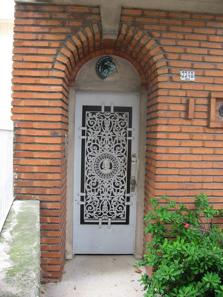 Very fancy door in Pocitos.