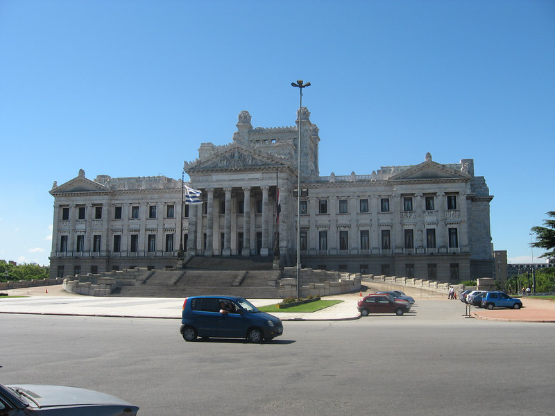 Headquarters of Uruguay's legislature. The building has incredibly ornate sculpted decorations.