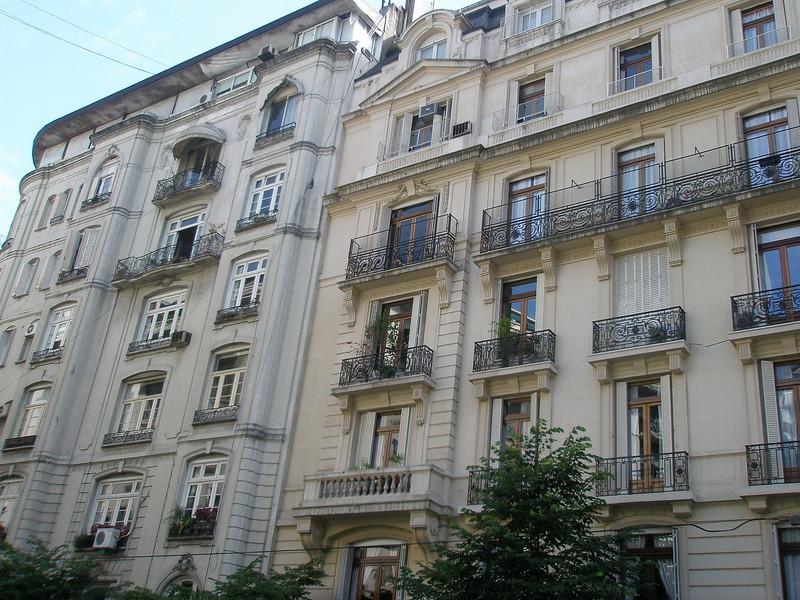 Beautiful apartment buildings in the Recoleta district.