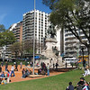 Plaza Italia in Buenos Aires, Sunday afternoon