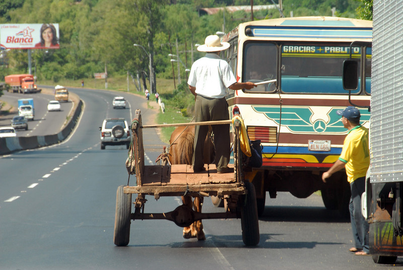 Modes of transportation in Paraguay.