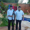 Two guards at a house on the outskirts of Asuncion.