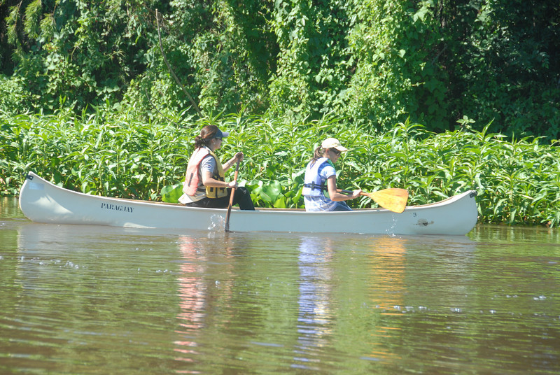Paddling the Paraguay River.