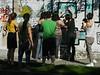 Street art class in action