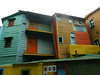 La Boca's signature painted buildings failed to impress me.