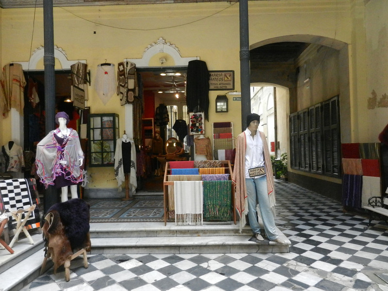 Inside one of San Telmo's courtyard buildings, being used for souvenir shops. The building was in sad shape,