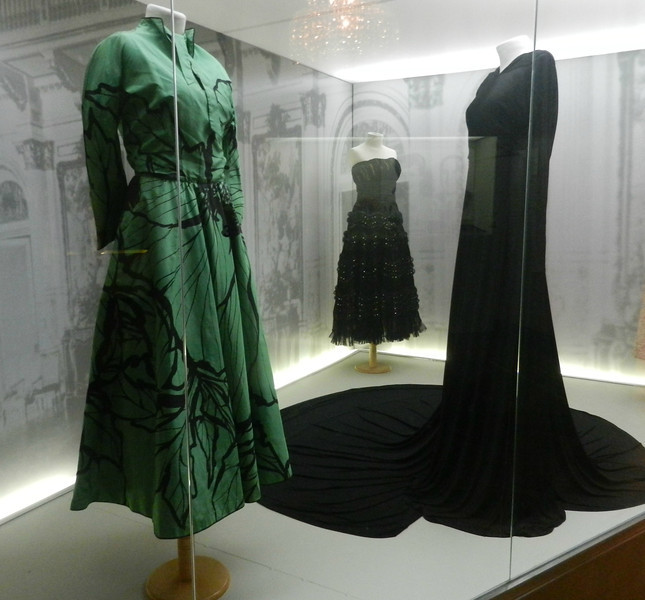 Some of Eva Peron's dresses