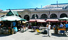The Mercado del Puerto. Good food available inside - I had the best beef I've ever eaten in Uruguay.
