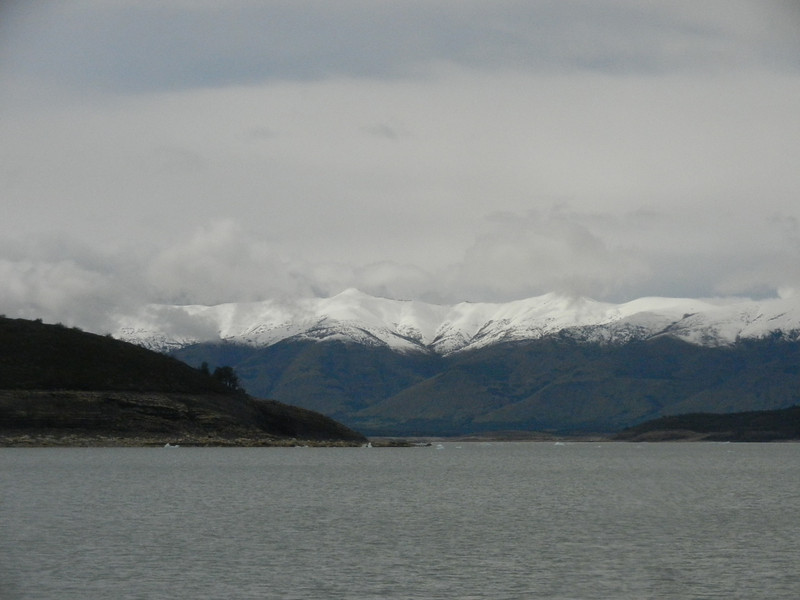 View from the boat on the way to Perito Moreno
