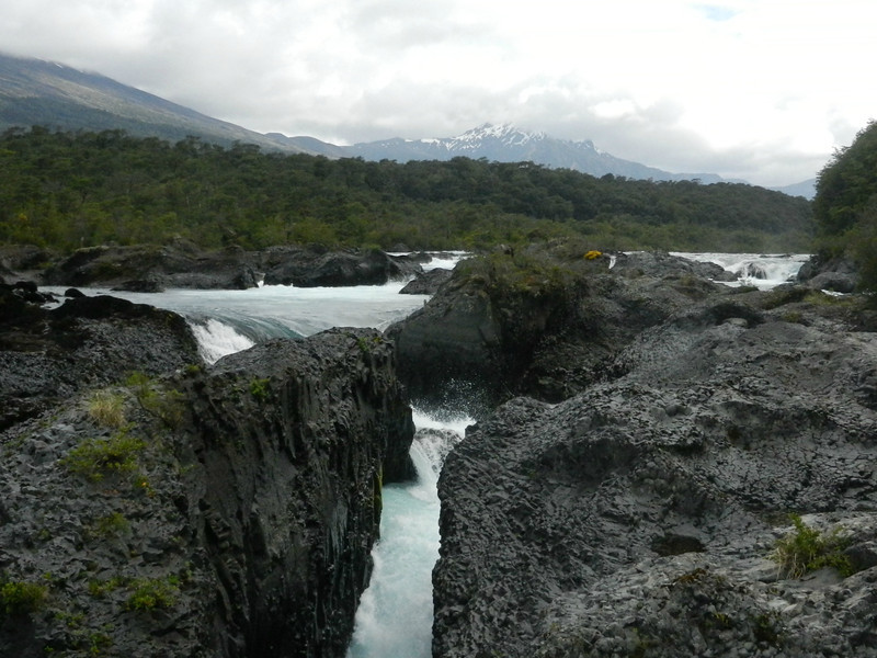 The first stop after Puerto Varas was the Petrohue falls.