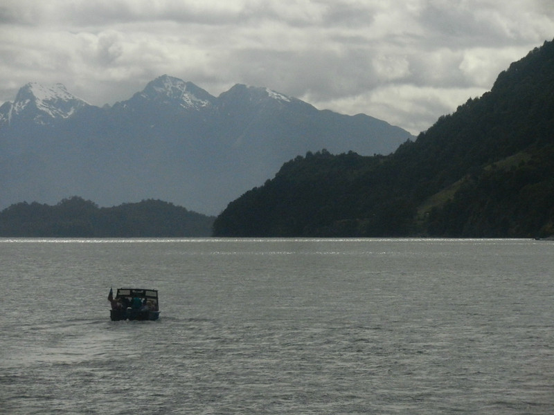 The we left bus number one for boat number one, crossing Lago Todos los Santos