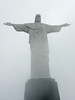 Christ the Redeemer up close on a cloudy day