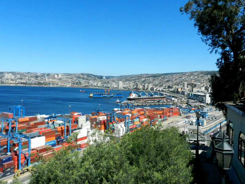 Valparaiso is a working port