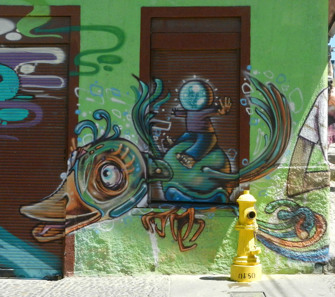 The tour also included a look at the street art - not a part of town to wander on your own