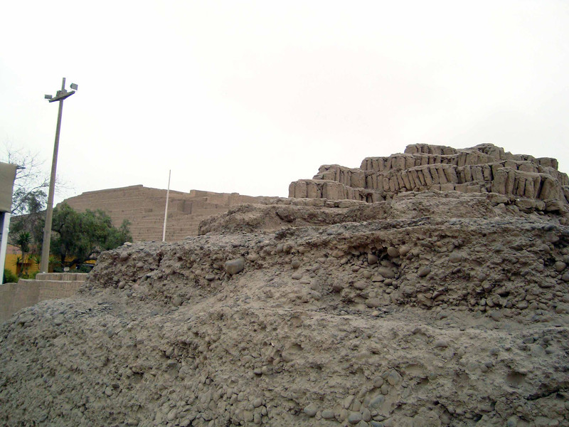 1600 year old city uncovered in the middle of Lima high end shopping area.