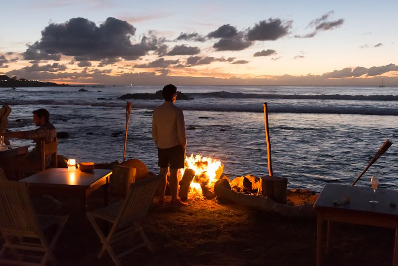 Sunset in Hanga Roa
