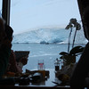 View of Antarctica from Buffet Dining area on Lido Deck