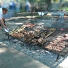 preparing for the asado
