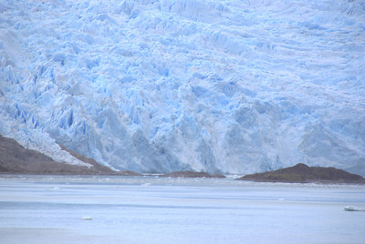 Chilean Fjords ~ Glacier inching into the bay/sound