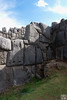Saqsaywaman, could you see a Llama figure on the rock wall?