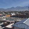 view from hotel towards Volcan Chachani (6057m)