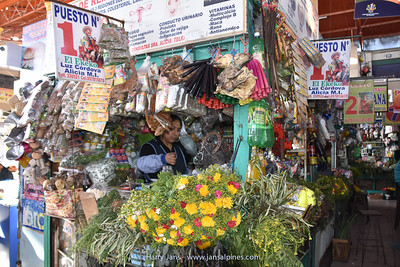 medecine corner in Arequipa market