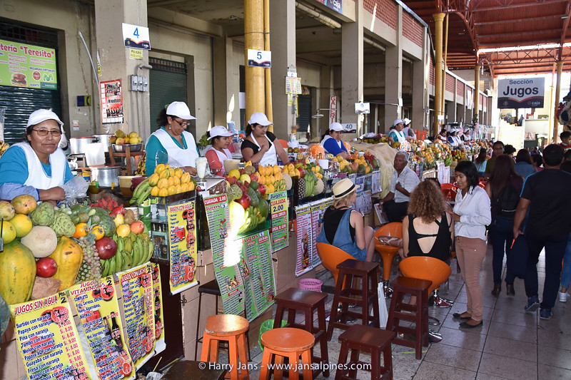 fruit juice corner in market Arequipa