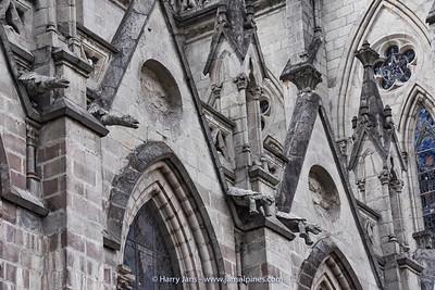 gargoyles at Basílica del Voto Nacional