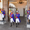changing guards at Palacio de Carondelet, Quito
