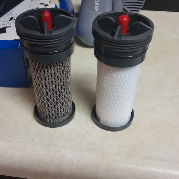 It was definitely time to change water filters.