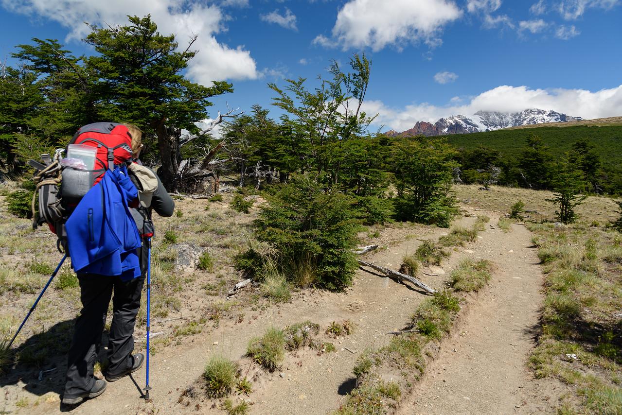 Cerro Huemul comes into view.
