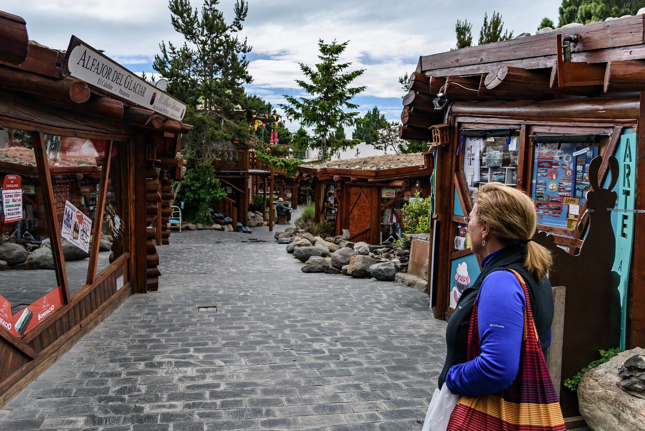 The touristy souvenir area of El Calafate