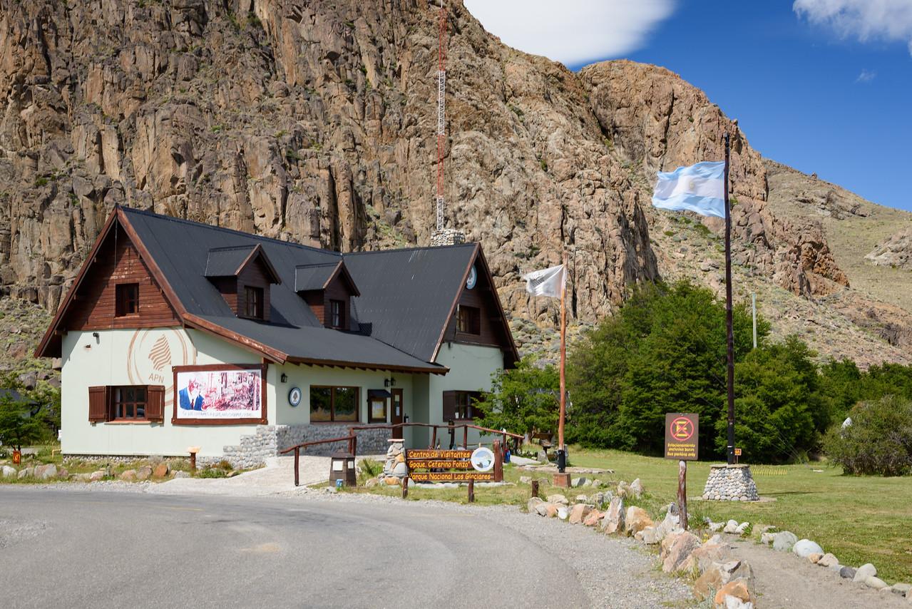 The Parque Nacional Los Glaciares vistor center