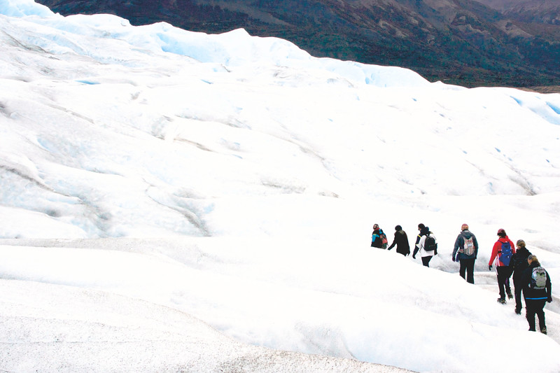 The Perito Moreno Glacier is 19 miles long and one of the 48 glaciers in the South Patagonian Ice Field. April 2017