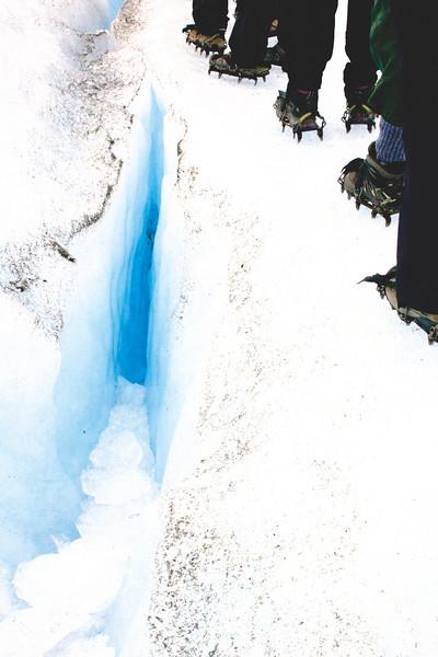 Trekking on the Perito Moreno Glacier in El Calafate. April 2017