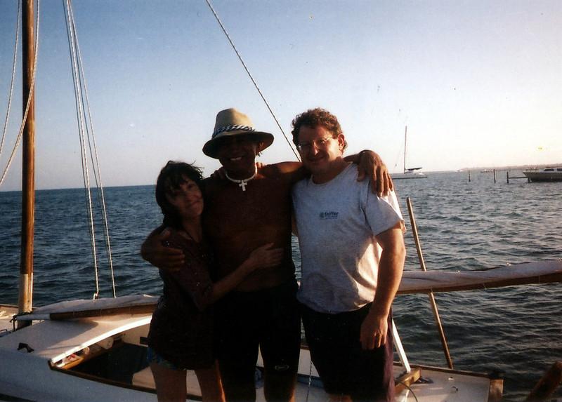 Celia, barry & Juna - On yatch after snorkeling