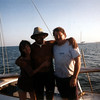 Celia, barry & Juna - On yatch after snorkeling