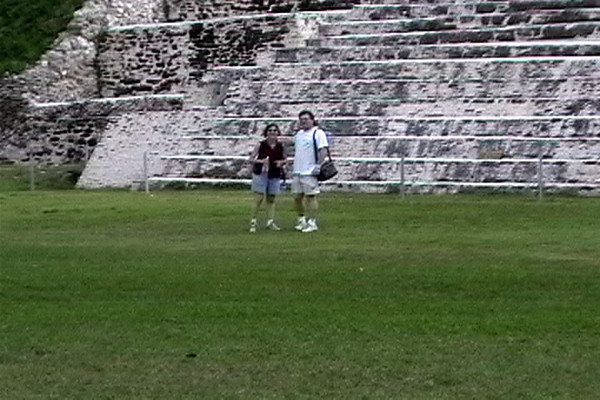 Celia & Barry at base of Mayan Ruin