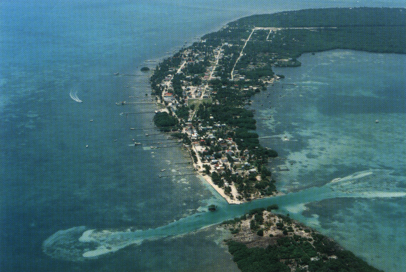 CAye Caulker from the air