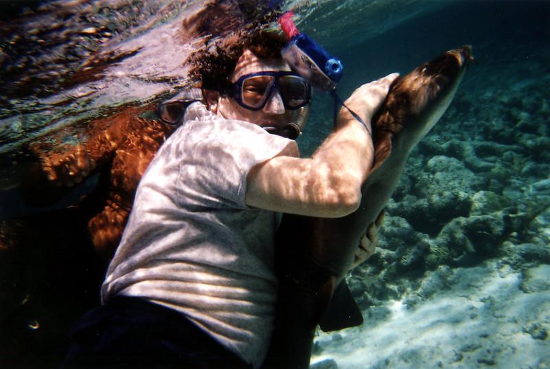 Barry holding shark