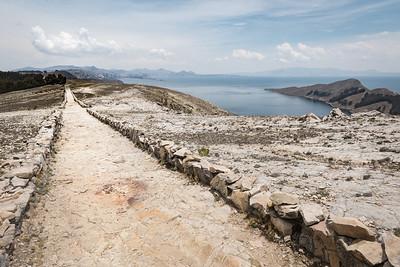 Path on Isla Del Sol, Lake Titicaca, Bolivia