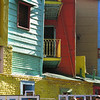 Famous colored houses in the La Boca neighborhood