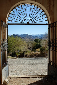 Looking out the cemetery door at Seclantas
