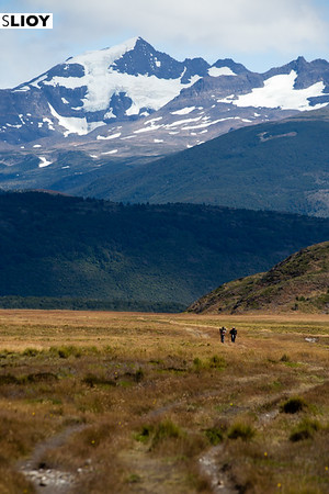 Hiking in to Torres del Paine along the Q route in Chilean Patagonia.