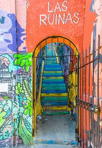Grafittied stairway